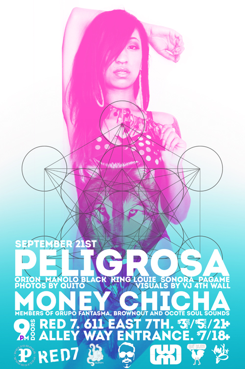 Peligrosa at Red 7 with Money Chicha